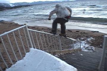 hand rail to beach