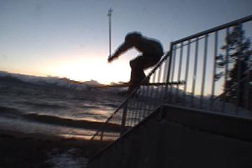 sunset handrail