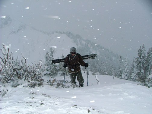 Me hiking the ridge crest