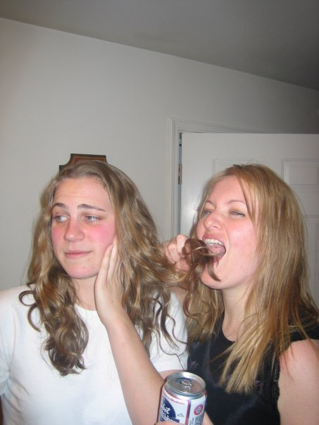 MMM Hair tastes good with beer