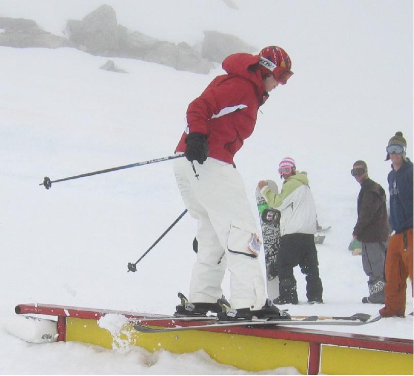 me sliding a rail at COC