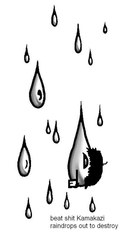 gook ass raindrops destroying winter