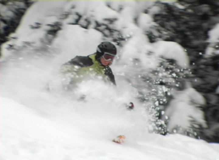 she can ski powder better than you can