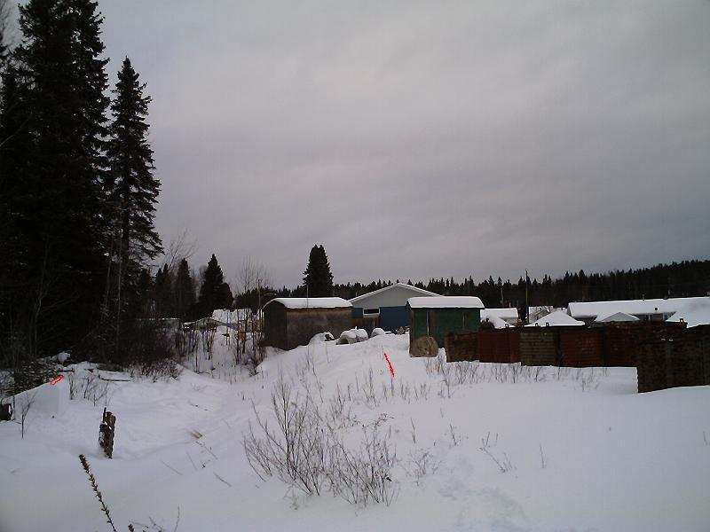 26 footer over frozen creek