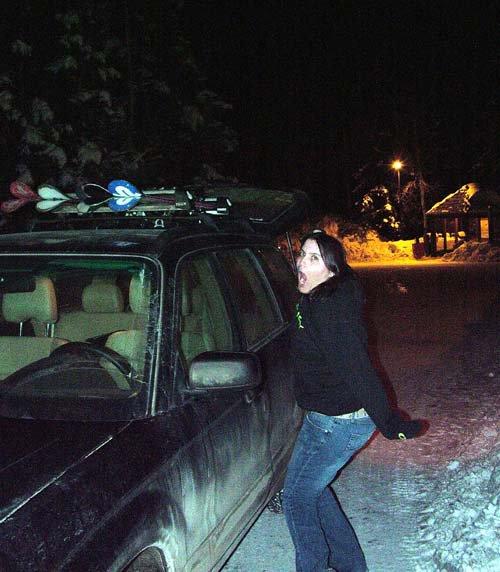 Car, skis, me