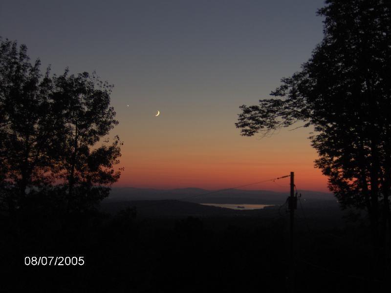 Sunset over Lake Winnepesaukee NH