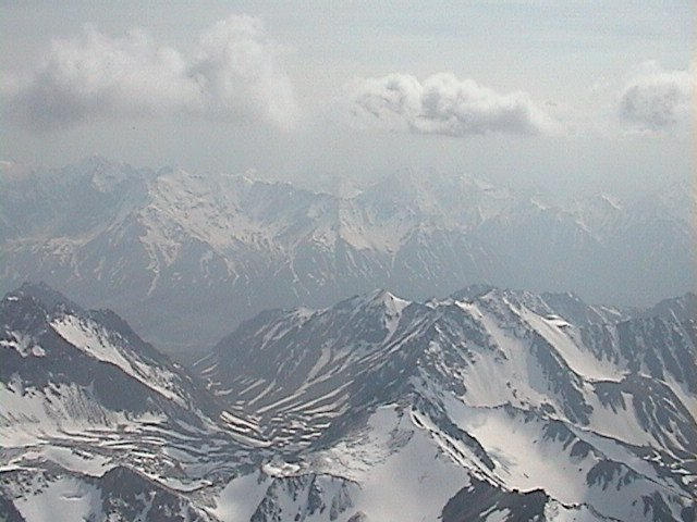 Alaskan Mountains from helicopter