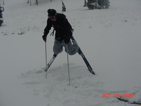 foot of pow in october! in PA!