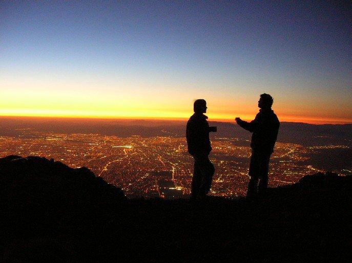 the mountain & city