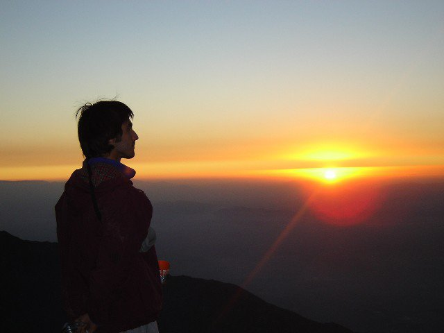 drunk sunset on provincia summit