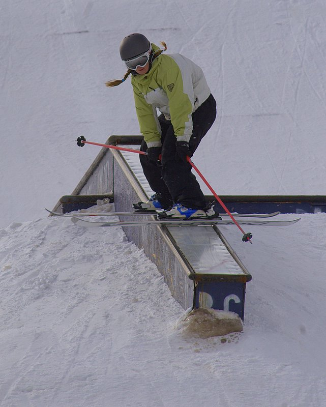 Some flat down rail sliding ability