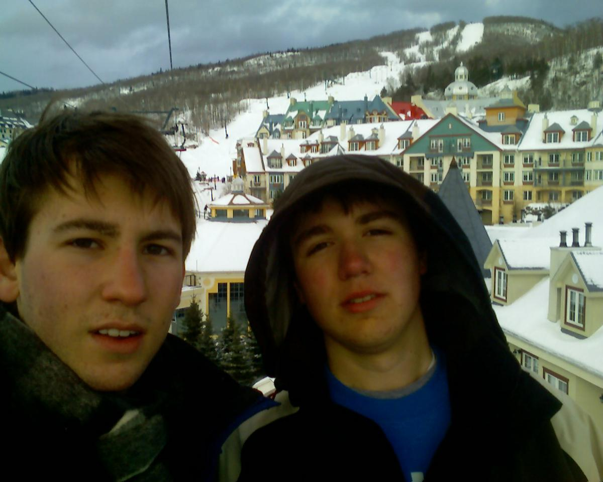 tremblant - dan and me