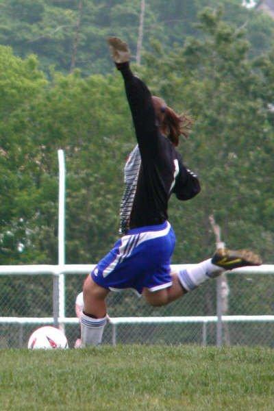 me taking a goal kick