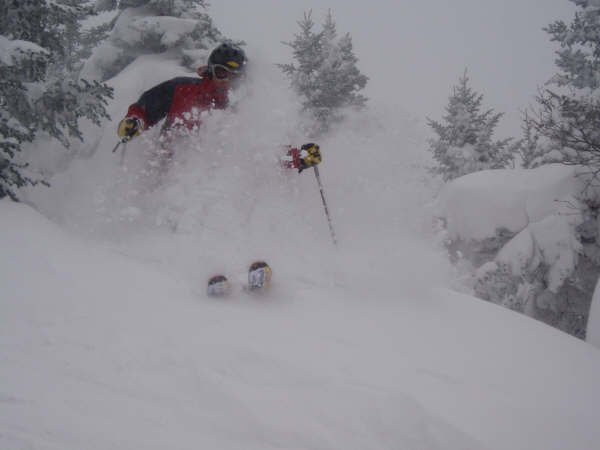 Face shots.. ripping it in 55cms of fresh