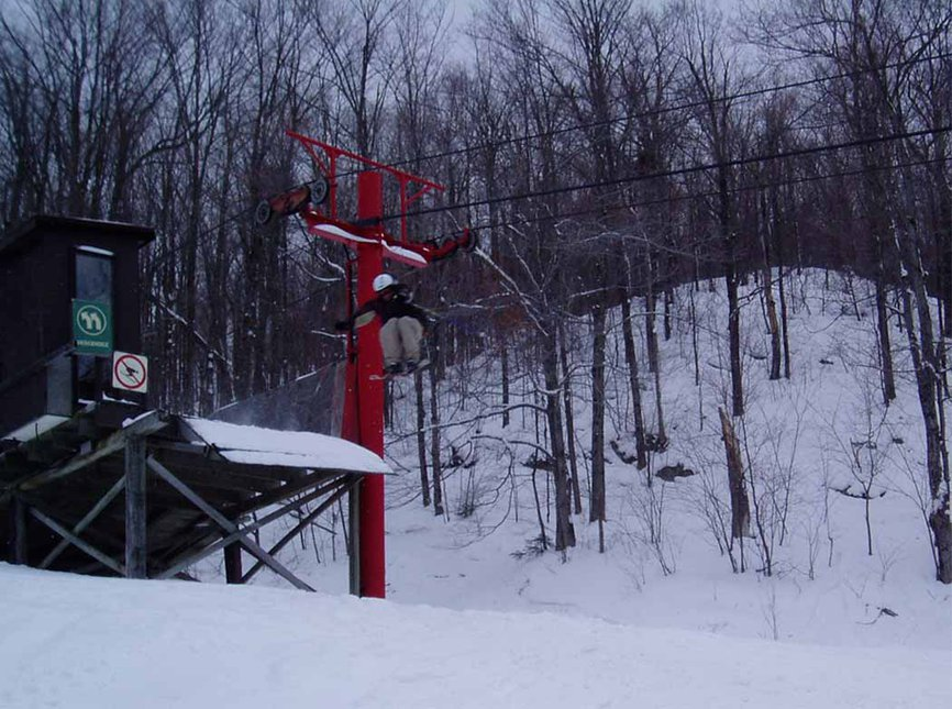 closed chairlift bombdrop
