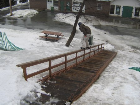 Wooden down rail