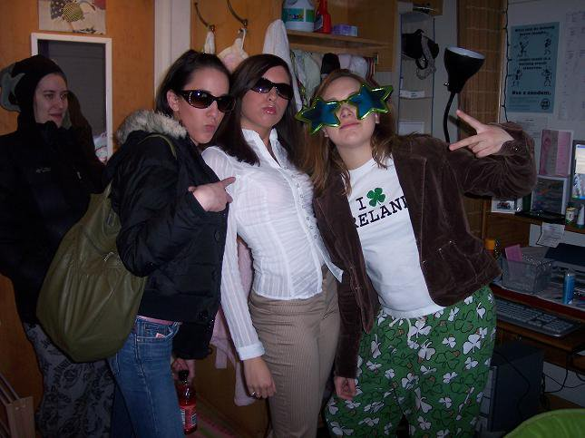 I'm in the middle, St. Patty's day
