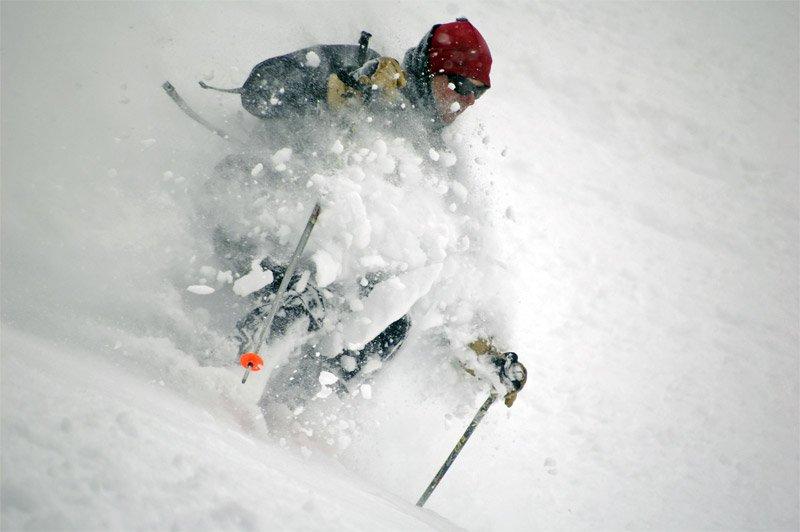 Umm... we skied more pow