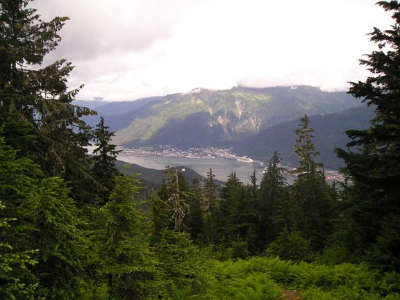 Juneau from mountains