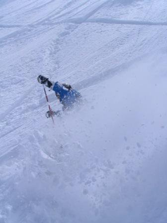 The snow yesterday was deep...