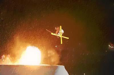Switch 7 off of big air jump with fire