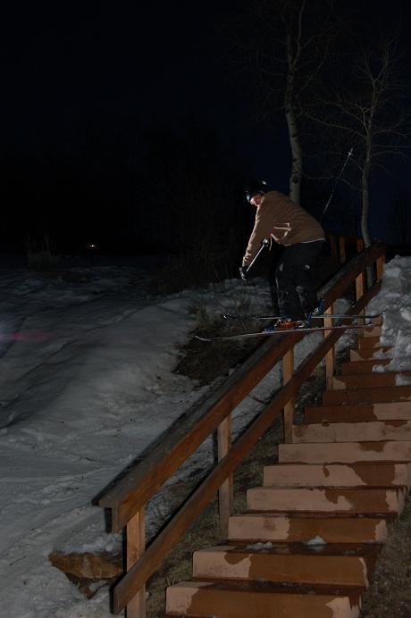 Wood Rail at night angle 3
