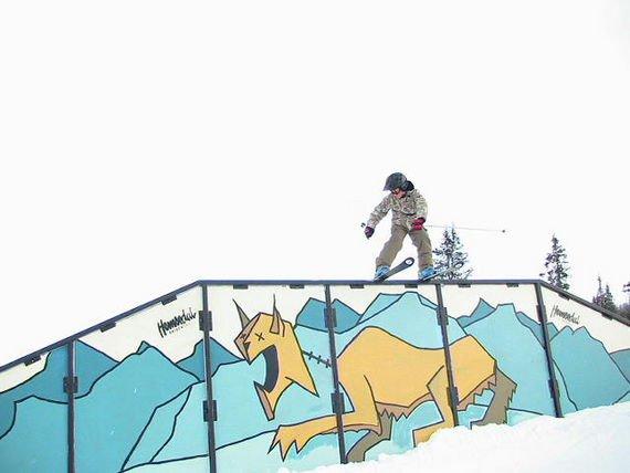 railslide on the big a-frame