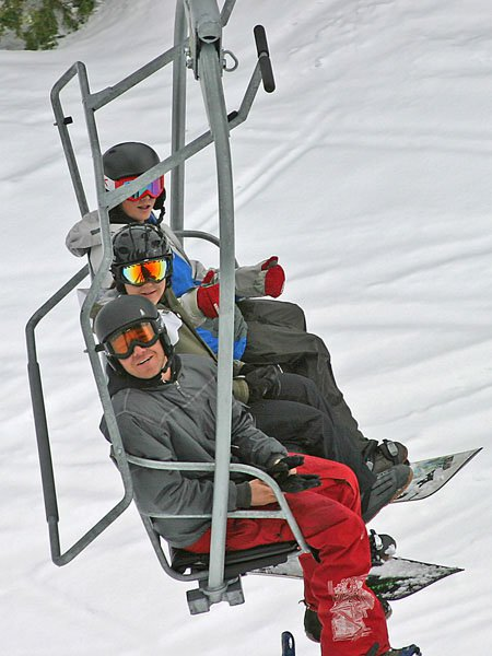 Cut, Me, and Dan. on the way up to the top on Sac.