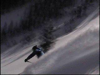 heli ski powder