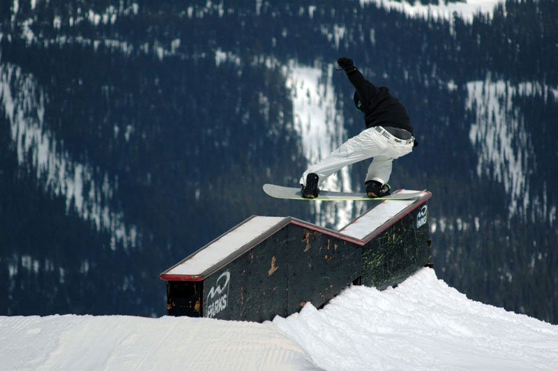 Up-down-up box tailslide (snowboard)