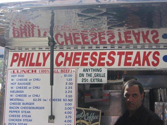 Mmm, philly cheesesteak