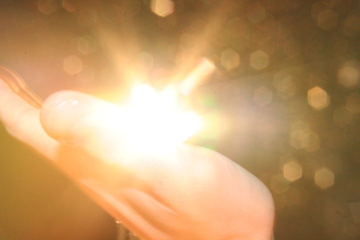 My hand and some light