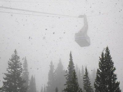 Still snowing in utah