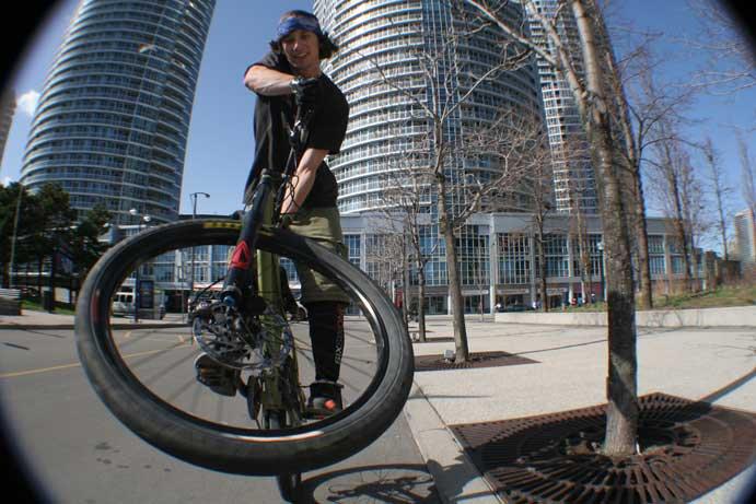 Kicking around Downtown Toronto.