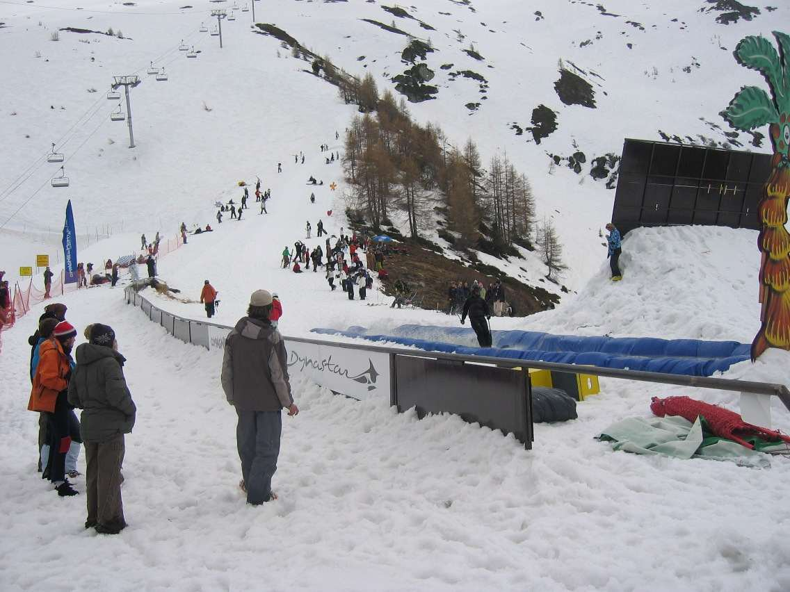 157ft long rail at Grands Montets Closing Day