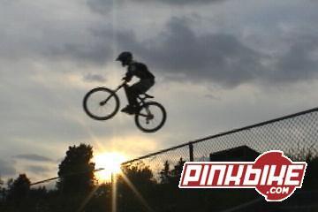 Mtn bike fence jump