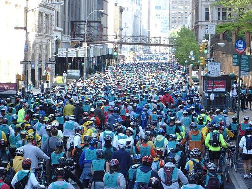 NYC bike ride with 75,000+ people
