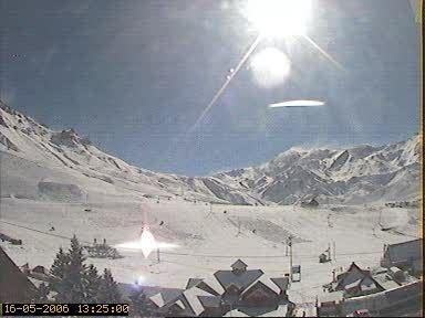 first snow in las lenas!!!