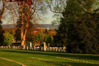 Shadows on a Cemetery