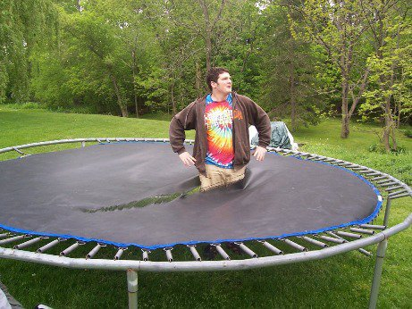 Look what my fat friend did to my tramp
