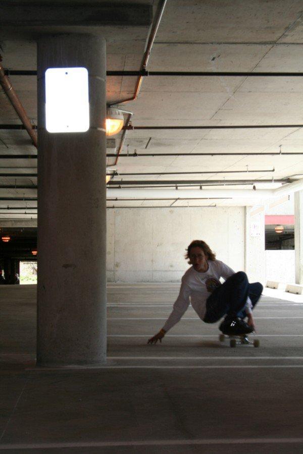 parking garage longboarding