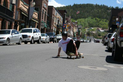 Longboarding steeze