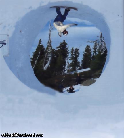 snowboarder loop (not rail)