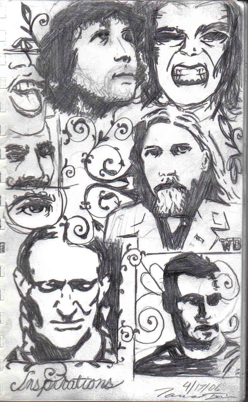 different portraits sketch