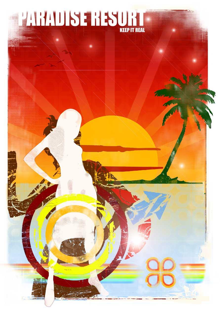 Paradise Resort, Graphic poster