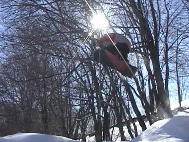backyard jump...not amazing but a decent shot