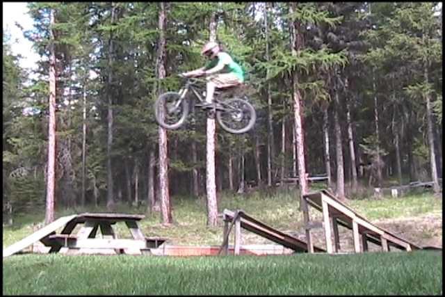 Biking kicker