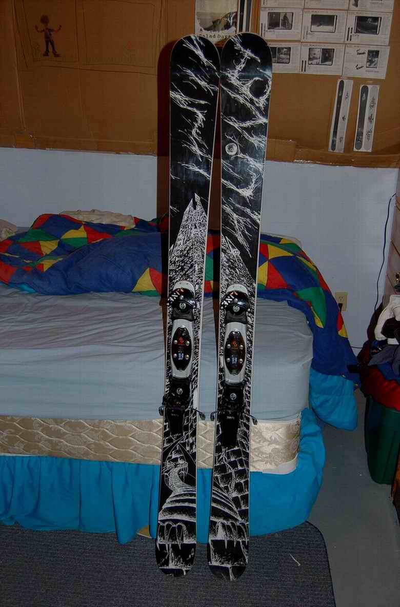 picture of my new LINE Elizabeth skis ( sorry about the quality)