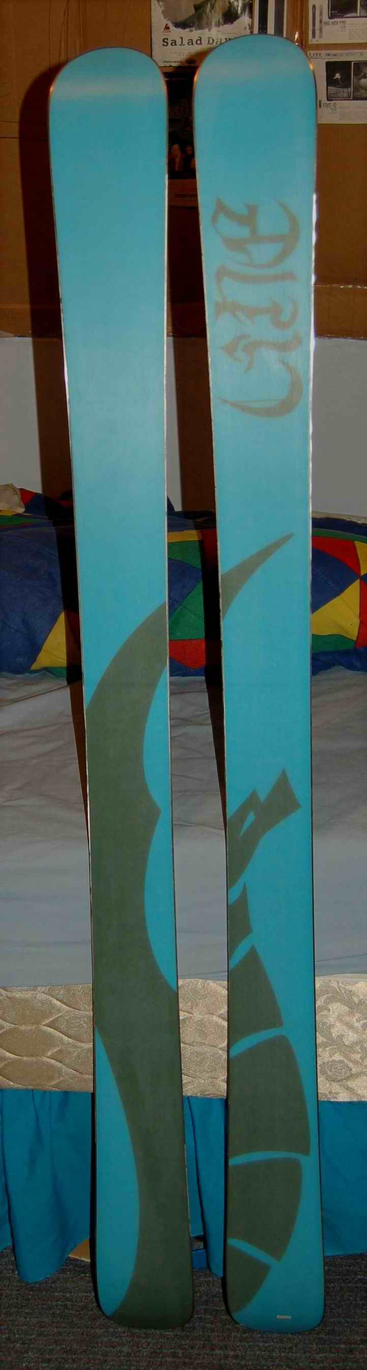 base of my LINE Elizabeth skis