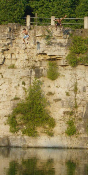 cliff hopping